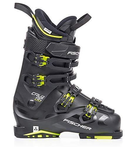 Fischer Unisex– Erwachsene Skischuhe Cruzar Sport MP30,5 EU46 2/3 Vacuum Flex 100 Skistiefel 2019, schwarz/gelb, 30.5