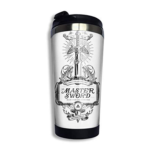 Ahdyr Edelstahl Reise Kaffeetasse, Master Schwert Werbung Reisebecher Kaffeetasse Edelstahl Vakuumisolierter Becher 13,5 Unzen