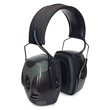 Howard Leight by Honeywell Impact Pro Sound Amplification Electronic Shooting Earmuff, Black & Grey (R-01902)