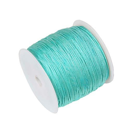 WSJKL 100m 0.8mm Negro Rojo Azul Ninguno Elasticidad Cuerda de Nylon Cuerda Nudo Chino Cuerda Macrame Cuerda para La Fabricación De Joyería para Pulsera De Shamballa (Color : NO.5 Light Blue)