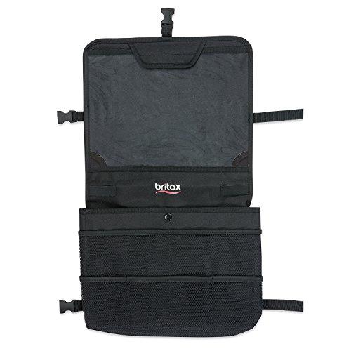 Britax Organizador veicular View-N-Go com suporte para tablet   testado contra impactos + suporte à prova d'água + bolsos de armazenamento extra