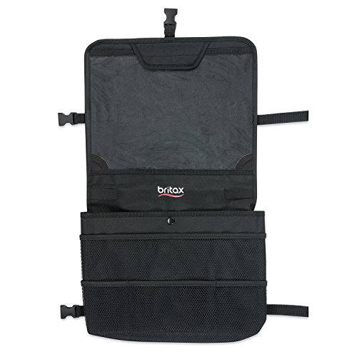 Britax View-N-Go Backseat Car Organizer with Tablet Holder | Crash Tested + Waterproof Backing + Extra Storage Pockets