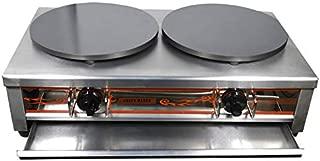 Commercial Pancake Fruit Machine double Head Natural Gas Crepe Maker 2000pa