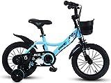 TTZY Moto 12/14/16/18 Pulgadas Bicicletas for niños con Ruedas de Entrenamiento, Ajustable en Bicicleta for niños 2-9 años niños y niñas de Ciclo 7-4,18in SHIYUE (Color : 16in)