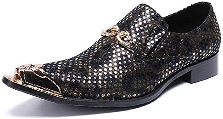 LOVDRAM Mnner Lederschuhe Luxus Mnner Bussines Kleid Schuhe Aus Echtem Leder Slip-On Spitz Büro Oxford Schuhe Mnner Hochzeit Schuhe