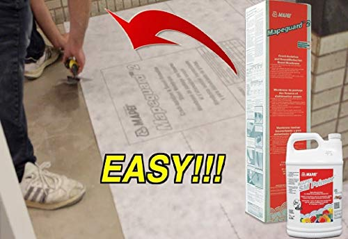 Mapei Mapeguard 2 Premium Crack Isolation and Sound Reduction Flooring Sheet Membrane (225SQFT PER ROLL) + Mapei SM Primer 1Gallon