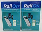 ReliOn Confirm Plus/Micro Plus Blood Glucose Test Strips - 100 ct (Two 50 ct Boxes)