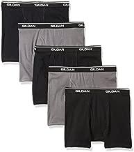 Gildan Platinum Men's Short Leg Boxer Briefs, Charcoal/Black, Small, 5-Pack