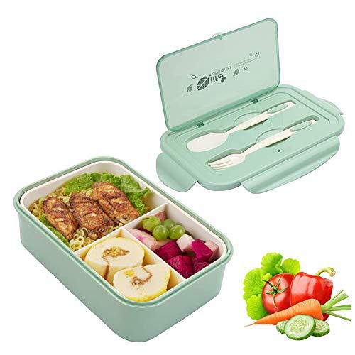 Sunshine smile Caja de Bento con 3 Compartimentos,microondas y lavavaj