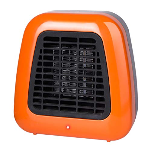 Minetom Personal Mini Heater, 400W Low Wattage Desktop Heater with Tip-Over Protection for Desk Office Table Indoors, Compact, Orange