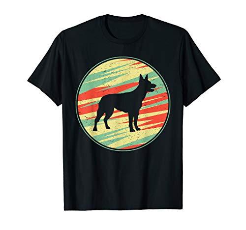 Australian Kelpie Retro Vintage Silhouette Cute Dog Gift T-Shirt 1