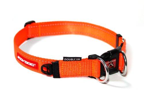 EzyDog Collier à anneau double - Orange (Blaze Orange) - Large (39cm - 59cm)