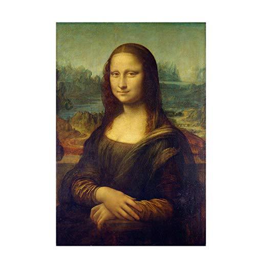 3 STKS Beroemde Klassieke Leonardo Da Vinci Schilderij Mona Lisa Glimlach Kraftpapier Poster Nostalgie Decoratie Muurstickers 40.5X26.5cm