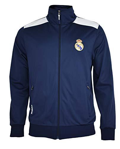 Real Madrid- Sudadera para Hombre, color Navy- White. Talla L