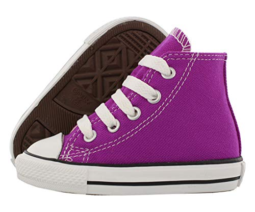 Converse Baby Girl's Chuck Taylor All Star Hi (Infant/Toddler) - Pink Sapphire - 2 Infant