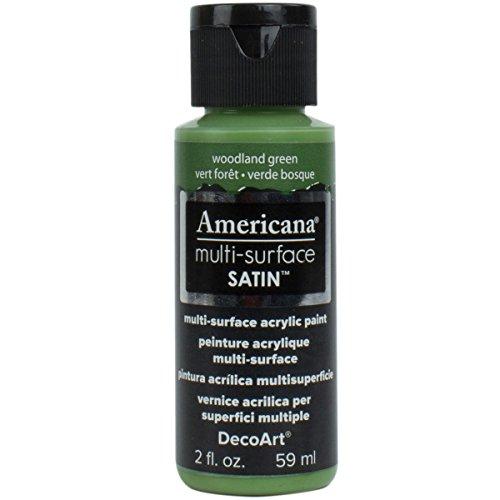 Deco Art Americana–Multi Superficie satén Botella Pintura, acrílico, Bosque Verde, 3x 3x 7cm