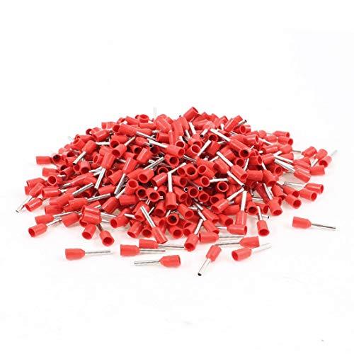 New Lon0167 1000 Unidades Destacados Reemplazo Rojo 21 eficacia confiable AWG Terminales de Crimpado de Pin Crimpado del Cable(id:abd 29 fd 50e)