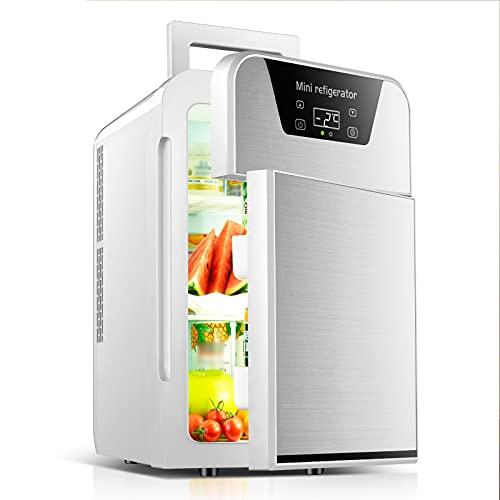Nevera Portatil 20 litros Mini Refrigerador Enfriador y Calentador Termoeléctrico de Dos Puertas para Dormitorio, Oficina, Coche, Dormitorio