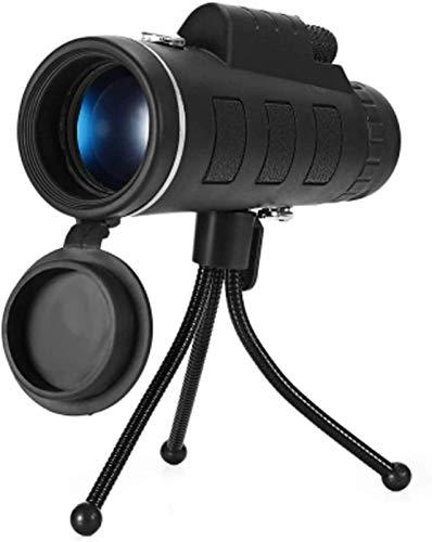 LXHJZ Prismáticos telescopio 40X60 HD Prisma Alcance con brújula Trípode Clip para teléfono