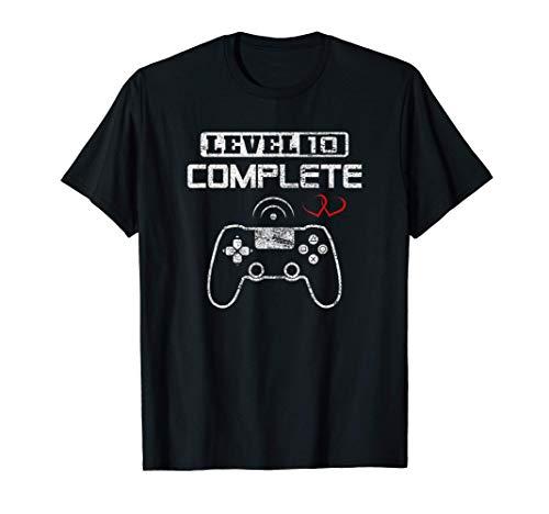 Level 10 Complete Décimo Aniversario Boda Parejas Diez Años Camiseta