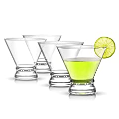 This cocktail glass set is a modern take on a classic glass. These 8-ounce Martini glasses are casual yet elegant with their cinched design. It has a heavy base elegant stemless construction that ensures stability. Sturdy and strong enough for cosmop...