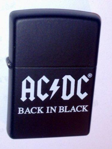 Zippo 1.290.091 Feuerzeug AC/DC Back in Black, schwarz matt