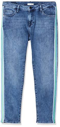 rich&royal Damen Midi Slim Jeans, Blau (Denim Blue 700), W28/L32 (Herstellergröße: 2832)