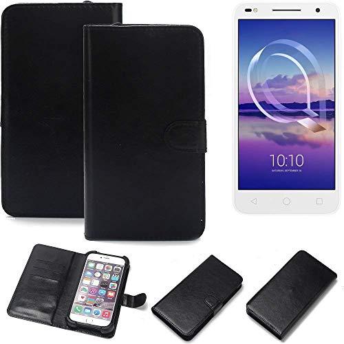 K-S-Trade® Handy Schutz Hülle Für Alcatel U5 HD Dual SIM Schutzhülle Bumper Schwarz 1x