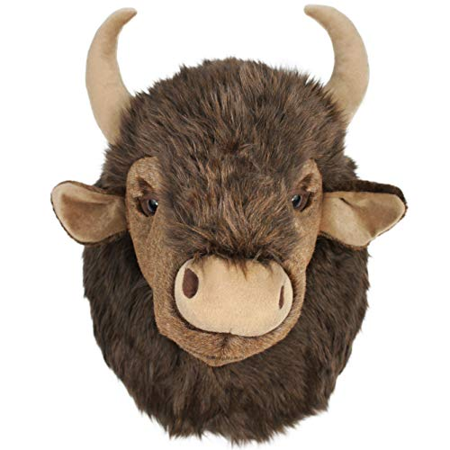 VIAHART Brillo The Bison   15 Inch Large Stuffed Animal Plush Buffalo Head Trophy Wall Mount Bust   Shipping from Texas   by Tiger Tale Toys -  850000897182