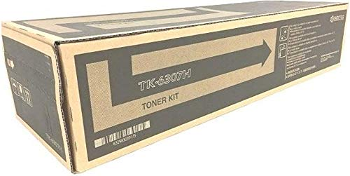 Kyocera 1T02LH0US2 Model TK-6307H Black Toner Cartridge For use with Kyocera TASKalfa 3500i, 3501i, 4500i, 4501i, 5500i and 5501i Black & White Multifunctionals