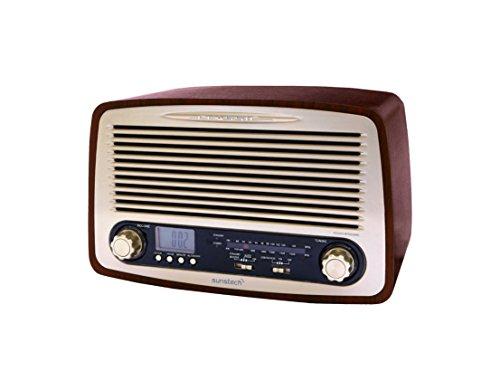Sunstech RPR4000WD - Radio de sobremesa (3 W RMS, AM/FM, USB), diseño