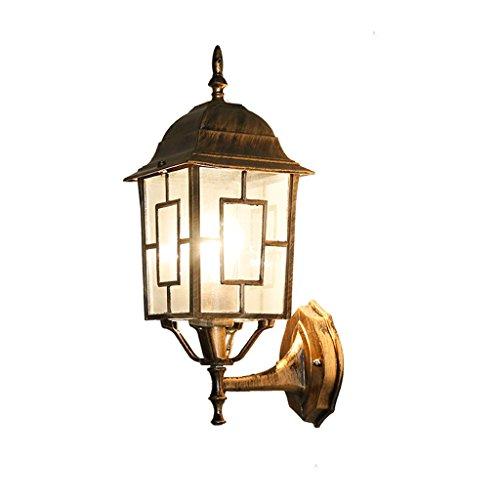 LJZ Ferme rétro Style rétro-éclairage Murale imperméable à l'eau créatif Simple en Fer forgé Lampe de Mur extérieur Postmodern élégant Balcon allée Jardin éclairage de Patio for Home