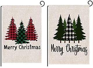 أعلام حديقة من Babyyon مطبوع على الوجهين علم الحديقة في الهواء الطلق ديكور عيد الميلاد