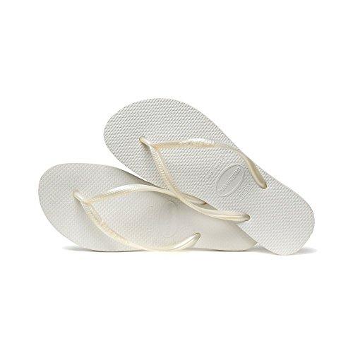 Sandalias para hombre y mujer Havaianas, de dedo, flipflopsUnisex., color Blanco, talla 36 EU-37 EU