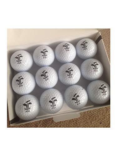 Customglass Pack de Pelotas de Golf Personalizadas con su Logo o Imagen a Todo Color torneos golfistas (Blanco, 12)