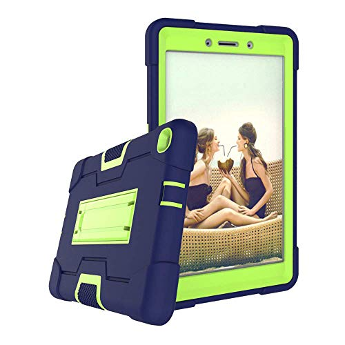 Koolbei Galaxy tab A 8.0 case,for Galaxy tab A 8.0 SM-T290/T295 Tablet 2019 Released,Heavy-Duty Drop-Proof and Shock-Resistant Rugged Hybrid case(with Built-in Stand) (Navy+Green)