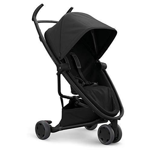 Quinny 1399991000 Zapp Flex Kinderwagen, stylischer Komfort Buggy mit 3 Rädern, angenehm leicht, kompakt faltbar und nutzbar ab circa 6 Monate, Black on Black, schwarz, 8.8 kg