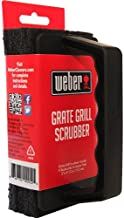 Weber Grill Brush Scrubber - Heavy Duty Grate Cleaner - With 3 Replaceable Pads