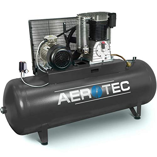 AEROTEC® Druckluft-Kompressor 10 PS | 7,5 kW 10 bar 500 l Kessel 400 Volt ölgeschmierter Kolben-Kompressor