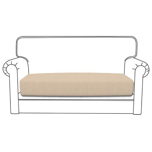 Easy-Going Funda de cojín elástica para sofá, funda de sofá, funda de sofá, suave y flexible con parte inferior elástica (cojín de sofá o lino)