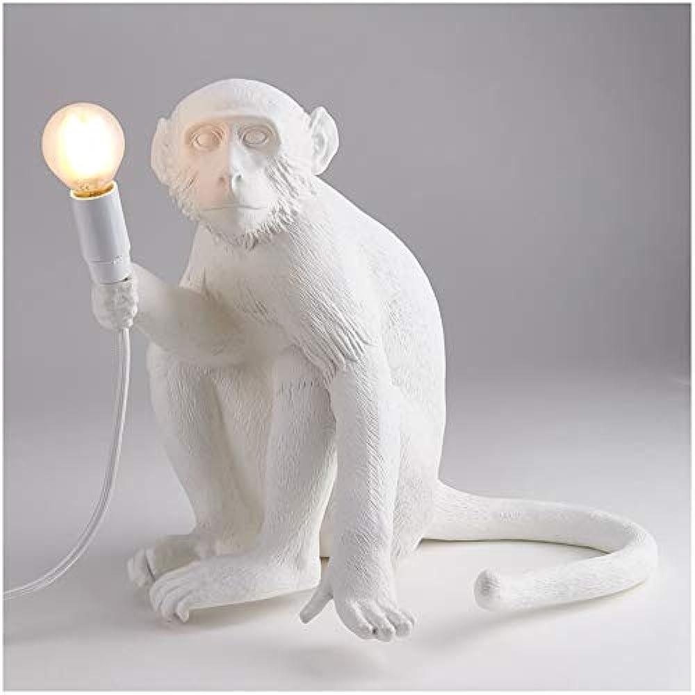 Seletti, lampada in resina monkey lamp cm.34x30 h.32 - seduta 14882