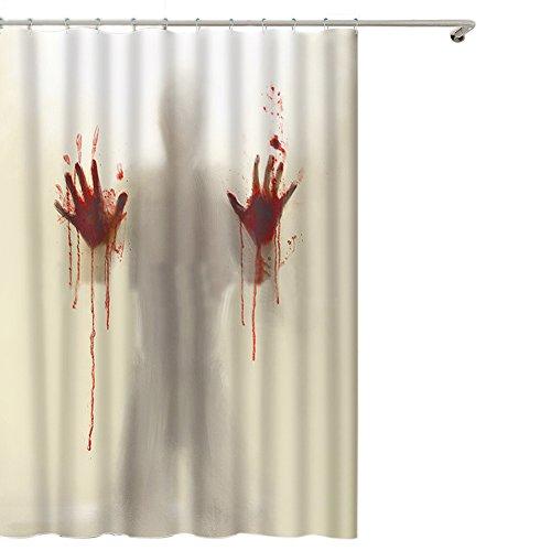 ishowstore Halloween-Duschvorhang mit Blutterror-Motiv, wasserdicht, 180 x 200 cm