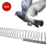 Gardigo 5 Metros Pinchos Anti-Palomas Espantapajaros Espiral Disuasión Repelente para Aves