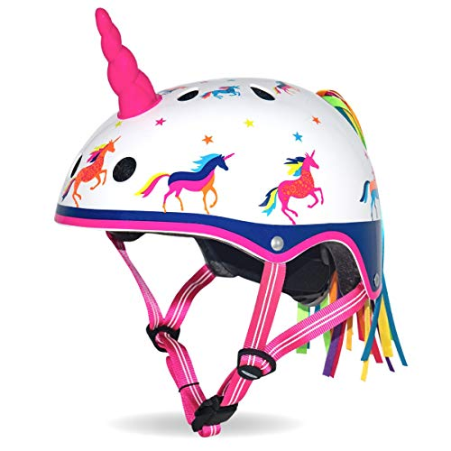 Micro Children's Deluxe 3D Helmet: Unicorn (Medium 54-58Cm)