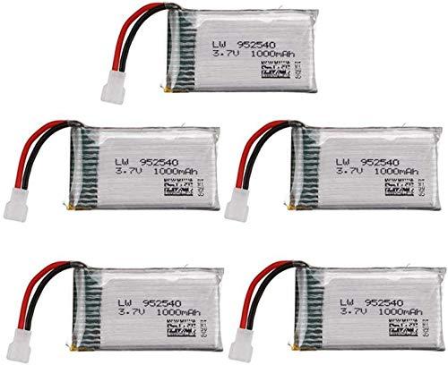 3.7 V 1000mAh 902540 Lipo batteria + caricabatterie per SYMA X5 X5C X5SC X5SW TK M68 MJX X705C SG600 KY601 Parte di ricambio per Drone Quadtore RC 5Battery