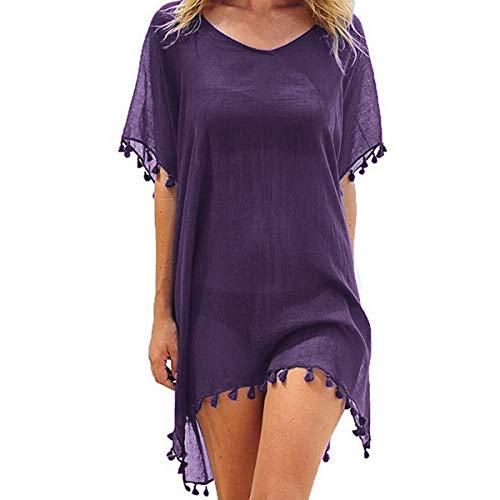Vestido de playa para mujer, con cobertura para bikini, de gasa, vestido de verano, poncho para la playa,...