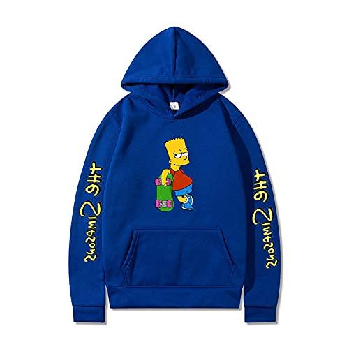 Sudaderas The Simpsons Niño Sudadera con Capucha Hombres 3D Impresión Unisex Mujer Sudadera de Manga Larga Suéter Fresco Dibujos Animados de Fans Streetwear Sudaderas de Moda-A_XXXX-Large