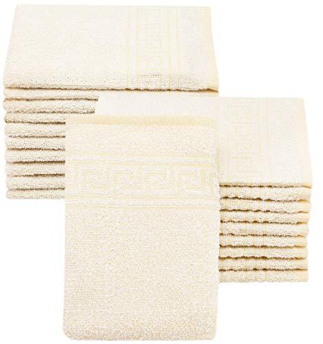 Zollner 20 manoplas de baño con greca, amarillo, 16x22 cm, otros colores