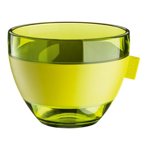 Koziol Aroma – Tasse en Plastique, sans Anse, 400 ML, avec Bande de Caoutchouc 250 ML Olive