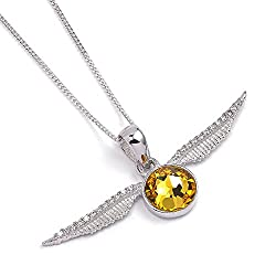 licensed chain to Harry Potter Snitch pendant with Swarovski crystal Delivery in gift box Pendant 3.8 x 1.7 cm; Chain length 42 cm Silver